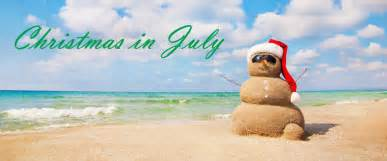 Christmas in july retail advertising promotion