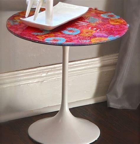 Decoupage Kitchen Table - decoupage side table diyideacenter
