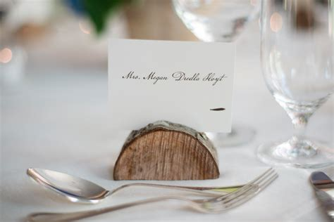 aspen colorado mountain wedding megan bobby rustic - Wood Place Card Holders Wedding