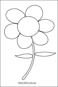 free flower template printable best photos of template of flower 5 petal flower