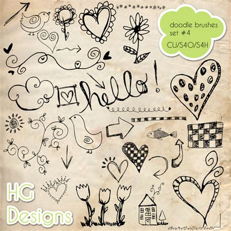 doodle 4 resources ps brushes doodles 4 by hggraphicdesigns on deviantart