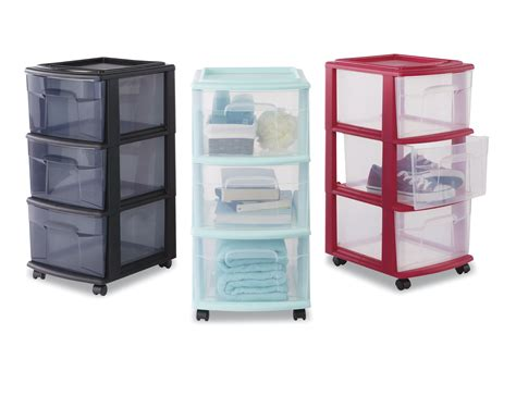 Three Drawer Storage Cart Essential Home 3 Drawer Storage Cart