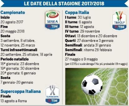 Calendario Serie A 2017 18 Calcio Il Calendario Serie A 2017 18 Barcalcio