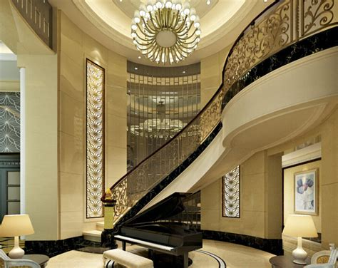 Home Interior Design Images Free Download by European Style Villa Stairs And Piano 3d House