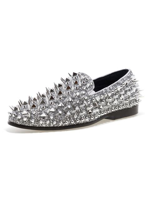 loafers with spikes for jump newyork lord silver spike loafers modishonline