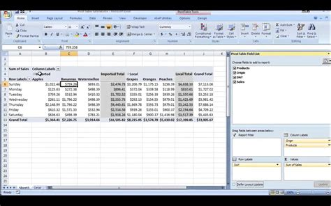 excel pivot table excel pivot table tutorial