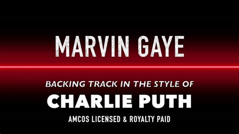 charlie puth marvin gaye mp3 marvin gaye in the style of charlie puth ft megan