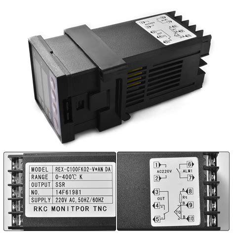 Rex C 100 Digital Pid Temperature Controller Dan Ssr 40a rex c100 digital pid temperature controller regulator k sensor probe ssr relay ebay