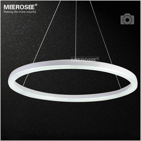 Led Ring Light by 26 Inch Led Ring Light Fixture Acrylic Pendant Light