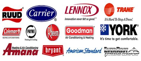 Top Air Conditioning Unit Brands - we service and repair all heating air conditioning