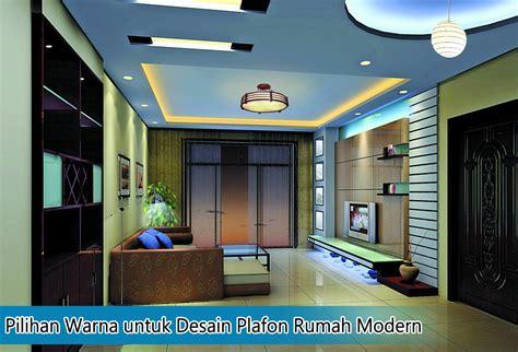 pilihan warna  desain plafon rumah modern kumpulan