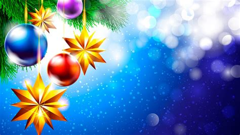 christmas   year celebration pine twigs decorative balls stars holiday hd wallpapers