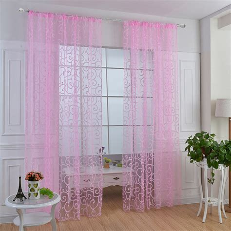floral voile curtains floral sheer voile curtains drape panel door window scarf