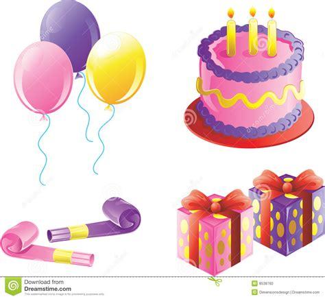 imagenes de cumpleaños fiesta iconos de la fiesta de cumplea 241 os de la muchacha foto de