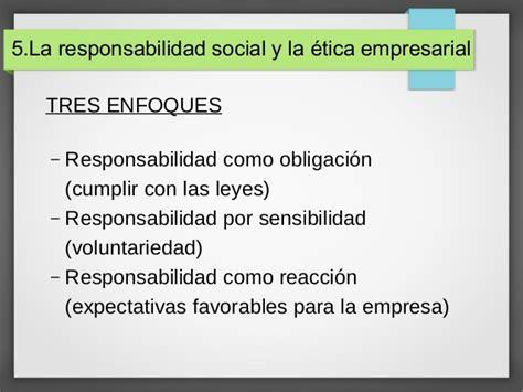 la responsabilidad social de la empresa oportunidades y el contexto externo y entorno del empresa y la