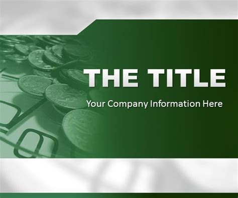 Powerpoint Template Green Finance Background Free Ppt Finance Ppt Template Free