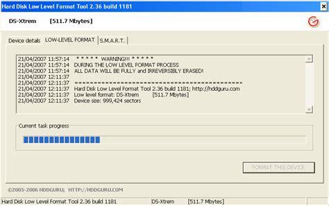 format low flashdisk hard disk low level format tool software informer screenshots