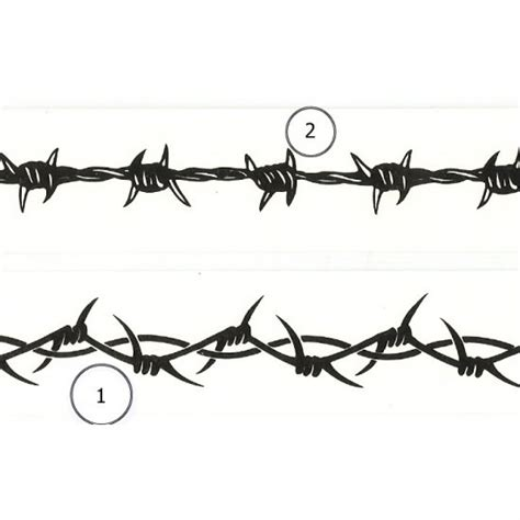 6 quot barbed wire wrist band tattoo