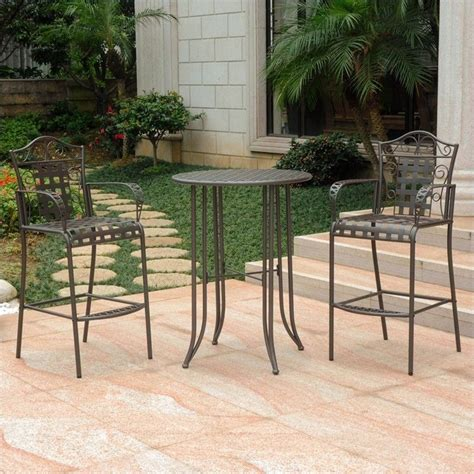 brown patio 3 patio bistro set in matte brown 3467 rt bn