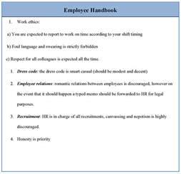 staff handbook template employee handbook template vnzgames