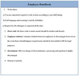 Employee Policy Handbook Template by Employee Handbook Template Free Template Design