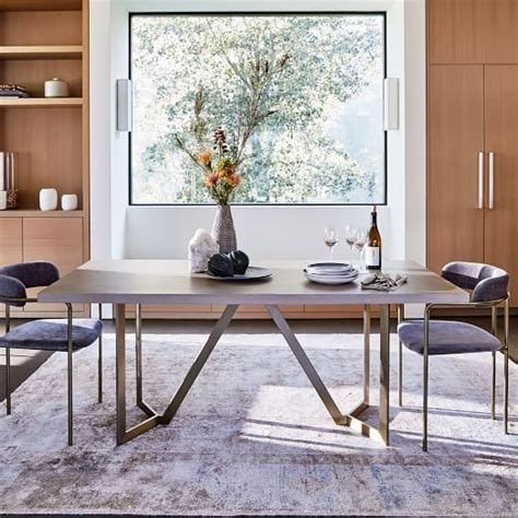Tower Dining Table   Concrete   west elm