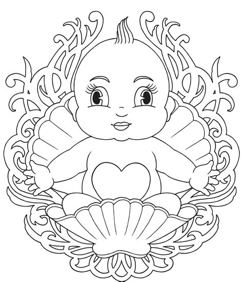 Free Printable Baby Coloring Pages For Kids Baby Color Pages
