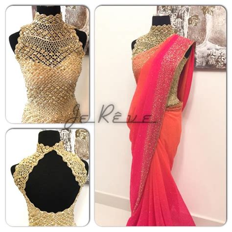 saree blouse back on saree blouse