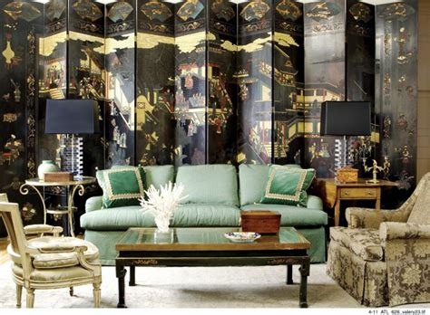 chinoiserie chic  green chinoiserie living room