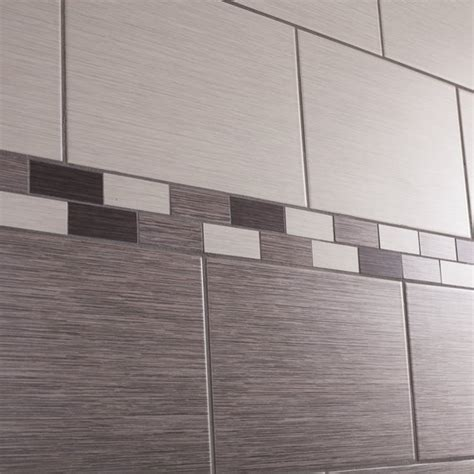 Tile Bordir Two Tone Import johnson tiles intro collection grain interlocking border matt wall