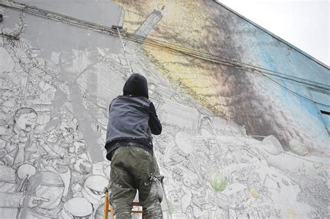 Italian Wall Mural street artist blu destroys 20 years of his work in bologna