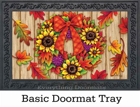 Fall Outdoor Mats Indoor Outdoor Fall Adirondack Insert Doormat 18x30