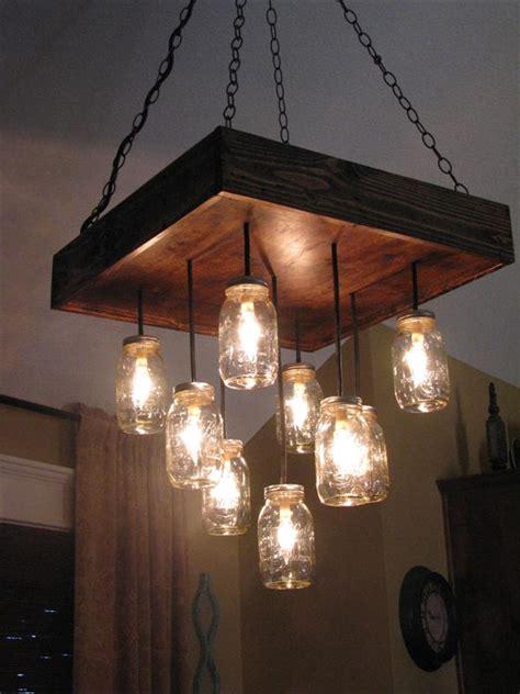 Hanging Light Ideas Diy Pallet Jars Chandelier 101 Pallets