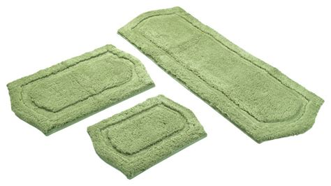 sage green bathroom rugs sage green memory foam 3 piece bath mat set contemporary