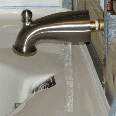 bathtub faucet extender joeplumb sorry the leak rustic bathroom sink faucets have