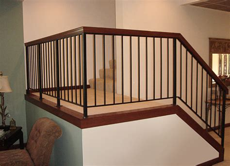 Interior Metal Railing interior railing archives s w fence inc
