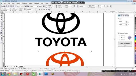 tutorial logo toyota 100 logo toyota 99designs corel draw x4 tutorial
