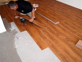Pvc Flooring Installation by How To Install Lay Vinyl Flooring Tile Wizards