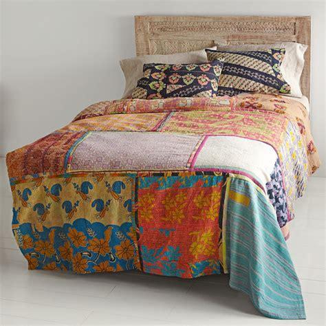 Vintage Patchwork Bedding - vintage kantha patchwork quilt blanket throw bedding