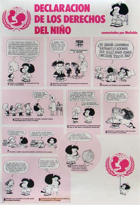 historietas de los derechos de los nios ventana de sabidur 237 a conociendo a mafalda
