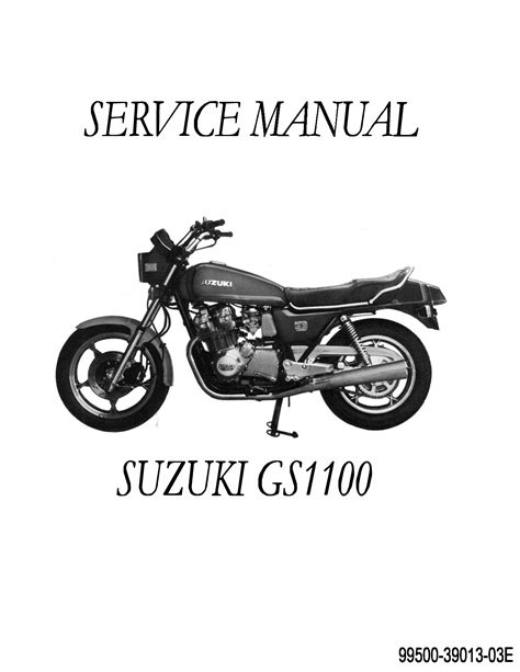 Suzuki Manual Suzuki Gs 1100 Motorcycle Repair Manual 1979 1980 1981