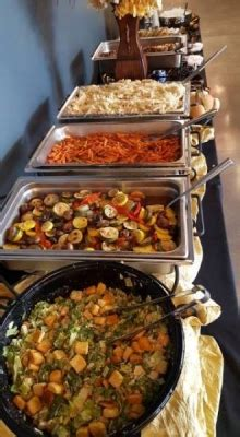ladyfingers catering  create   hot lunch buffet