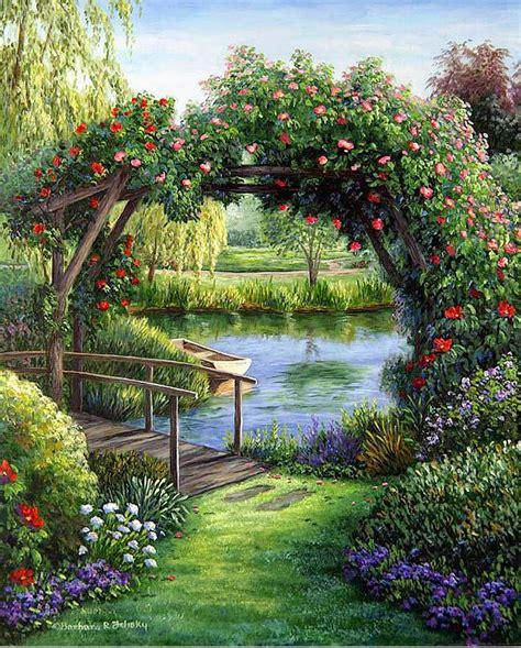 imagenes de paisajes jardines im 225 genes arte pinturas paisajes con jardines y flores