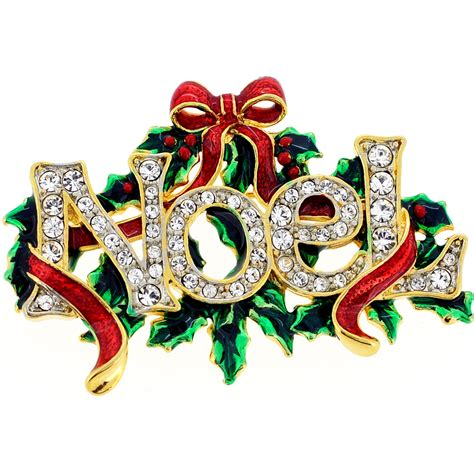 images of christmas noel christmas noel christmas bow wreath swarovski crystal pin