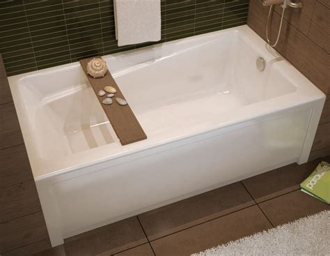 maax bathtub installation exhibit 6030 ifs bathtub with apron for alcove