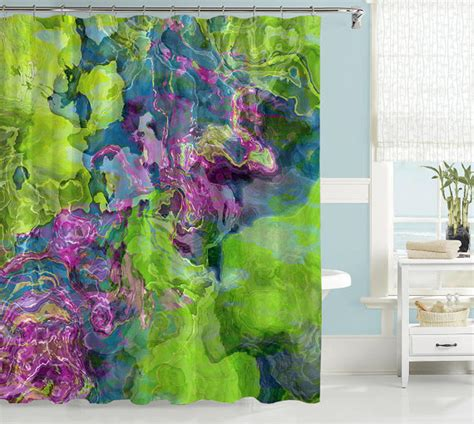 artist shower curtains contemporary shower curtain abstract art bathroom decor