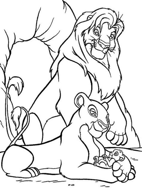 Mufasa On Pride Rock Coloring Page Www Imgkid Com The Mufasa Coloring Pages