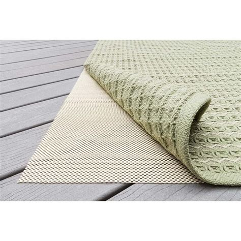 Outdoor Rug Pads Loloi 8 X 10 Outdoor Grip Vinyl Rug Pad In Beige Pad3opad1be0080a0