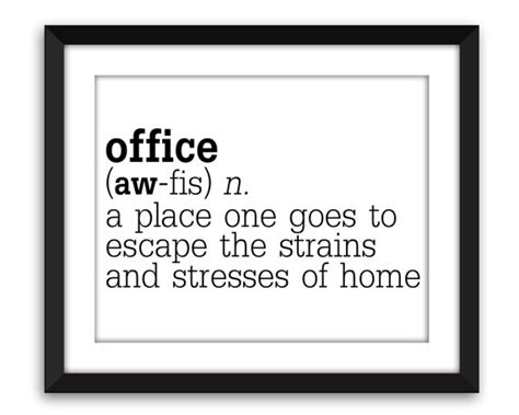 office definition funny office definition print humorous work poster gift for