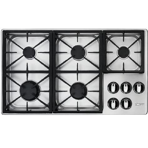 Dacor Gas Cooktops shop dacor renaissance 5 burner gas cooktop stainless steel common 36 in actual 36 in at